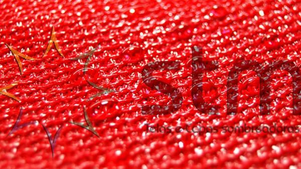 Tela de Sombramento Impermeável Vermelha
